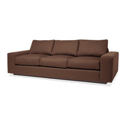 True Modern - Jackson Standard SOFA - Get a cozy and stylish look in your living room with this modern sofa. Choose from 12 colors to fit with your favorite palette. The down-filled pillows will make it the family's favorite place to cuddle up.