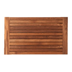 TEAKWORKS4U - Teakworks4u Teak Bath Mat With Side Edges, Burmese Teak - Teakworks4u Teak Bath Mat With Side Edges is ideal for indoor or outdoor use. It is naturally mold and mildew proof due to its high oil content and high silica content makes it incredibly slip resistant.