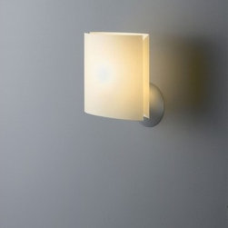 """FontanaArte - Sara Wall Light - FontanaArte, Sara wall lamp with its pearl wood or metal frame painted aluminum and silk-screened diffuser, the FontanaArte, Sara wall lamp is another great addition to your designer setting. Designed by Pierluigi Cerri for FontanaArte, the Sara wall lamp can be used in your home or office setting. FontanaArte, a leader in designer lighting, has added the Sara wall lamp to its collection.  Learn more about The Sara Wall Lamp: FEATURES   SPECIFICATIONS  FEATURES: -Wall lamp. -Sara collection. -Designed by Pierluigi Cerri. -aluminum finish. -Diffuser in silk-screen printed polycarbonate. -UL listed. Back to top  SPECIFICATIONS: -Bulb accommodation: 1 x 60W B10 candelabra E12 Incandescent. -Overall dimensions: 8.6"""" H x 4.7"""" W x 6.7"""" D.  Specifications"""