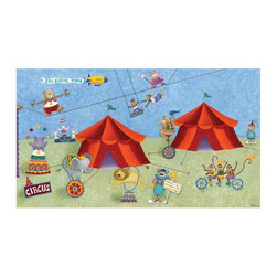 RoomMates - RoomMates Big Top Circus Chair Rail Mural Multicolor - JL1182M - Shop for Stickers from Hayneedle.com! About Roommates: Roommates a subsidiary of York Wallcoverings Inc creates some of the most versatile and unique wall decor you'll find. Their innovative wall decals feature a removable and endlessly reusable design allowing you to move and rearrange your decals as often as you like all without causing any damage to your walls or furnishings. This means you can apply them without worry or headache since you don't have to get the application perfect the first time. RoomMates work on any smooth surface and are particularly ideal for temporary decorating such as around the holidays. All RoomMates products are proudly made in the USA and are made from non-toxic materials so they're as safe for your kids and pets as they are for your walls.Please note this product does not ship to Pennsylvania.