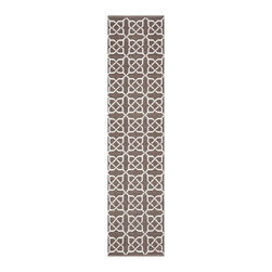 Safavieh - Thom Filicia Hand-woven Indoor/ Outdoor Saddle Rug (2' x 6') - Safavieh's Thom Filicia Indoor/ Outdoor collection is inspired by timeless contemporary designs crafted with the softest plastic available.