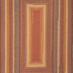 Jaipur Rugs - Braided Solid Pattern Cotton/ Polyester Red/Yellow Area Rug ( 5x8 ) - These braided cotton rugs are both durable and rich in color and style.