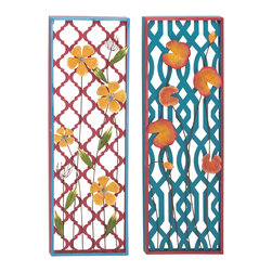 Fancy Metal Wall Decorative, Set of 2 - Description: