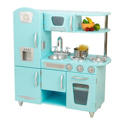KidKraft - Blue Vintage Kitchen by Kidkraft - Bon App tit! Our Vintage Kitchen in Blue lets kids pretend they are cooking big feasts for the whole family. With its close attention to detail and interactive features, this adorable kitchen would make a great gift for any of the young chefs in your life.