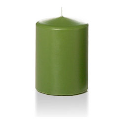 "Neo-Image Candlelight Ltd - Set of 12 - Yummi 3"" x 4"" Green Tea Round Pillar Candles - Our unscented 3""x4"" Round Pillar Candles are ideal when creating a beautiful candlelight arrangement for the home or wedding decor.  Available in 44 trendy candle colors hand over dipped with white core to match and compliment your home decor or wedding centerpiece decoration."