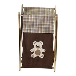 Sweet Jojo Designs - Chocolate Teddy Bear Hamper - The Chocolate Teddy Bear Hamper by Sweet Jojo Designs will add a designer's touch to any child's room. This children's laundry clothes hamper has a wooden frame, mesh liner, and a fabric cover.