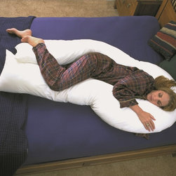 RestMate - Restmate BodyNest Body Pillow - Versatile enough for side, back and stomach-sleepers, this cotton body pillow is designed to reduce pressure on the body to ensure a more restful sleep. Durably crafted and featuring a 200-thread count, this pillow makes a fine addition to any bedroom.