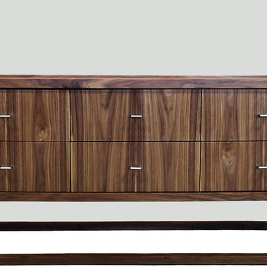 Petits Fours 6 Drawer Low Dresser - The Petits Fours design combines the strength of a solid wood frame with the beautiful grain patterning of veneered panels. The solid wood dovetailed drawers run smoothly on concealed runners for easy operation. An elegant companion to our Petits Fours Bed.