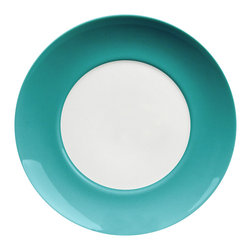 Waechtersbach - Uno Set of 4 Salad Plates Azur - Add a pop of color to your place setting with this set of four festive salad plates. Made from porcelain, they're dishwasher safe and great to mix and match with other pieces for a casual, collected feel.