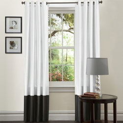 Lush Decor Prima Window Panel Pair - These black and white curtains are clean, simple and to the point.