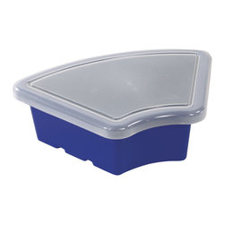 Ecr4kids - Ecr4Kids Blue Replacement Tray For Sand And Water Play Fan Shaped With Lid 20 Pk - Replacement Bin with lid for use with storage units and Sand and Water Play Centers.Replacement polypropylene basin for modular Sand and Water Play Centers, Ellipse Storage Centers and other laminate storage centers.Note Colors may vary - may change without notice. Also available without lid, tray alone (model ELR-0804-XX), sold separately To avoid attraction by animals or insects, do not leave water standing after use.