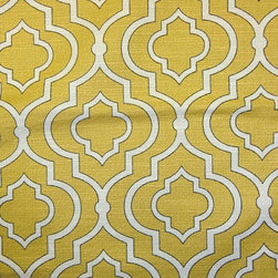 Custom Curtains or Drapes by Gosia Figura - This is the perfect shade of yellow, and the pattern is so beautiful.