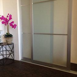Acrylic & Glass - Sliding Closet Doors / Room Dividers - Open | Close Doors