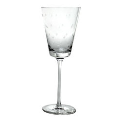 Kate Spade New York by Lenox - Kate Spade Larabee Dot Wine Glasses (4 Piece Set) - This delightful larabee dot design makes a case for the polka dot as the ultimate motif, with our etched crystal wine glass as case in point.