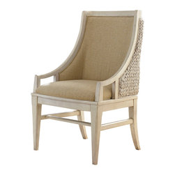 American Drew - American Drew Americana Home Freeport Accent Chair in Weathered White, Set of 2 - Americana Home is a casual lifestyle grouping with an eclectic mix of design elements, finishes, and materials. Crafted with Pin Knotty Oak veneers with hardwood solids. Americana Home creates an inviting and comfortable setting for any lifestyle and personality. The best elements of casual country, modern lodge, coastal cottage and urban loft living combine to bring a unique sense of timeless and comfortable places from all over the American andscape. Americana Home creates an inviting and comfortable setting for any lifestyle and personality. Design the perfect timeless escape in your own home.