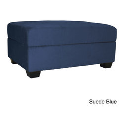 EpicFurnishings - Vanderbilt Microfiber Suede Storage Ottoman - Update your home with this suede storage ottoman covered in a unique microfiber upholstery. This practical piece of furniture is comfortable to sit on with its high-density cushion and has a built-in storage space for your belongings.