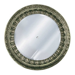 Hickory Manor House - Ptolemy Mirrored Ceiling Medallion in Gilt Si - Vintage original. Custom made by artisans unfortunately no returns allowed. Enhance your decor with this graceful mirrored ceiling medallion. Made in the USA. Made of pecan shell resin. 35 in. Dia. (23 lbs.)
