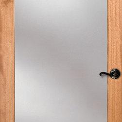 Authentic Wood Doors - Vertical Grain Douglas Fir Glass French Door 1-Lite Clear