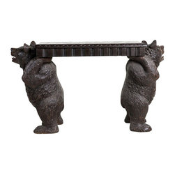 c. 1870's Black Forest Bear Carved Bench - $18,500 Est. Retail - $11,950 on Chai -