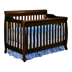 AFG Baby - AFG Baby Alice Convertible Crib with Toddler Rail in Espresso - The Alice 3 in 1 Crib is crafted of solid wood with a choice of 3 classic finishes. Simple, modern crib with step side panels, the crib can be converted into a toddler bed and full-size bed. It comes equipped with a guard rail and a 4 level mattress support. Its simple, convertible ability allows you to adjust the product throughout your child's growth.