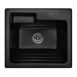 CorStone - CorStone 12144 Black Westerly Westerly Self Rimming 25x22 Laundry Sink - Westerly Self Rimming 25x22 Laundry Sink with WashboardCorStone  Westerly self-rim laundry sink with built-in washboard is from the Advantage 3.2 Series-. The Westerly is the ideal sink for todayÂ's laundry room with an extra deep bowl, built-in washboard and offset shelf for easy access to cleaning supplies. The Westerly is made from 3.2 ForgeCast- Acrylic that is thick and durable providing high impact resistance that prevents marking and chipping. Permanent high gloss finish, that will not discolor or rust. NAHB and CSA certified. Overall sink dimensions: 25 IN. x 22 IN. x 12 IN., Inside Bowl Dimensions: 21 IN. x 16 IN. x 12 IN.Lightweight and easy to installEasy care with soap and water100% stain resistant, will not discolor or rust