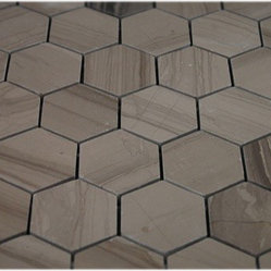 Athens Gray Hexagon Polished Marble Mosaics