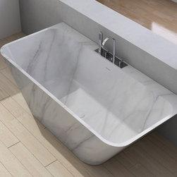 Custom Marble Modern Tub - Royal Stone & Tile