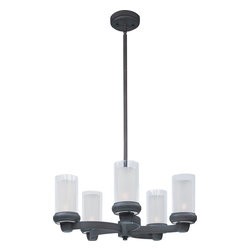 Maxim Lighting - Maxim Lighting Bayview Transitional Chandelier X-ZBTFLC54322 - The Bayview transitional chandelier will give any home a modern look while still being classy. The lighting you'll get from this chandelier is going to be enough to light up the room without being too overboard, and the bronze finish means it'll fit in with just about any decor you may have in the home.