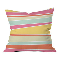 DENY Designs - Caroline Okun Delicious Outdoor Throw Pillow - Do you hear that noise? it's your outdoor area begging for a facelift and what better way to turn up the chic than with our outdoor throw pillow collection? Made from water and mildew proof woven polyester, our indoor/outdoor throw pillow is the perfect way to add some vibrance and character to your boring outdoor furniture while giving the rain a run for its money. Custom printed in the USA for every order.