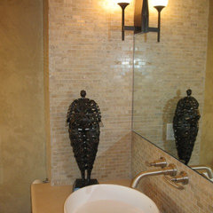 asian bathroom by May Construction, Inc.