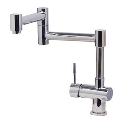 ALFI - ALFI Solid Polished Stainless Steel Retractable Single Hole Kitchen Faucet - Leon kitchen faucets by ALFI brand are made of Solid Stainless Steel, unlike traditional faucets which are made out of brass and treated to created different finishes. These faucets are built tough and made to last for decades, both durability and looks.