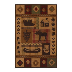 "Mohawk - Southwestern/Lodge Woolrich Westland 5'3""x7'10"" Rectangle Multi Color Area Rug - The Woolrich Westland area rug Collection offers an affordable assortment of Southwestern/Lodge stylings. Woolrich Westland features a blend of natural Multi Color color. Machine Made of Polypropylene the Woolrich Westland Collection is an intriguing compliment to any decor."