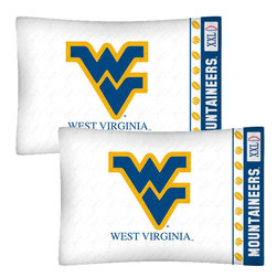 Store51 LLC - NCAA West Virginia Mountaineers Football 2-Pack Pillowcases - Features: