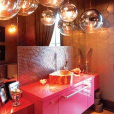 Contemporary Powder Room by Anderson Design Studio