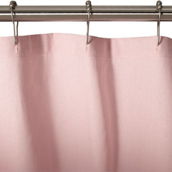 Cotton Duck Shower Curtain - Pink - This shower curtain is the perfect complement to a vintage pink bathroom, which spiked in popularity from the mid-1940s to 1960s.