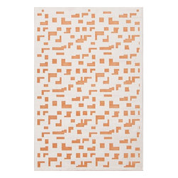 Jaipur Rugs - Jaipur Rugs Machine Made Lustrous Silk/Chenille Ivory/Orange Area Rug, 5x7.5' - Every design tells a story with the Fables Collection. This broad range, crafted in machine-tufted viscose & ultra-soft chenille, brings any space to life with its fashion-forward color palettes. With options suited to many styles and aesthetics, Fables brings together a diverse collection of patterns ranging from sophisticated transitional to boldly scaled contemporary.