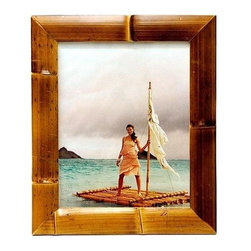 Bamboo54 - Bamboo Waikiki Frame (4 in. L x 6 in. W) - Choose Size: 4 in. L x 6 in. WGlass inset. Made of Bamboo. Picture: 4 in. L x 6 in. W. Actual picture viewable: 3.5 in. L x 5.5 in. W. Frame: 7 in. L x 9 in. W. Picture: 5 in. L x 7 in. W. Actual picture viewable: 4.5 in. L x 6.5 in. W. Frame: 8 in. L x 10 in. W. Picture: 8 in. L x 10 in. W. Actual picture viewable: 7.25 in. L x 9.5 in. W. Frame: 11 in. L x 13 in. W