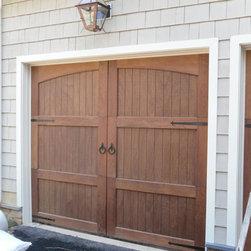 Wooden Garage Doors - Stain grade cedar wood garage door.