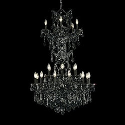 """Elegant Lighting 2800D30SWH-GT/SS 25 Light Maria Theresa Crystal Chandelier - Additional 10% Discount: Coupon code """"Houzz"""""""