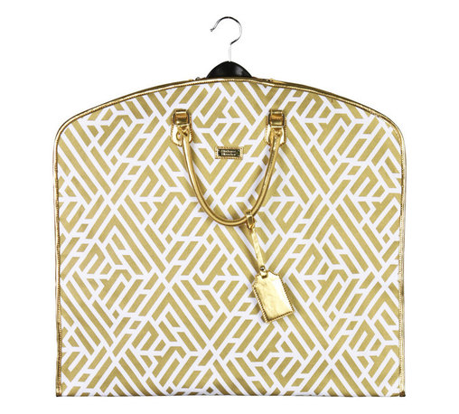 Hudson + Bleecker - Hudson + Bleecker Garment Wayfarer Bag Labyrinth Gold Travel Bag - A chic garment bag to hold your hanging items.
