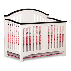 Adarn Inc - Springtime Nursery White Sturdy Wood 4-in-1 Convertible Crib Toddler Bed - Simple and modern Springtime 4-in-1 Crib enhances any nursery decor. This stylish crib can convert into a toddler bed, day bed, and full-size bed. Lasting value and built with a strong wood construction that's easy to assemble. JPMA certified, non-toxic, safe and sturdy this sleek bed will be enjoyed for years to come. With white finish and a graceful design the Springtime 4-in-1 Crib is built to last as your child grows. Safe, sturdy and beautiful, crib has a three- position mattress height adjustment. Toddler guardrail and crib conversion rails are sold separately.