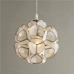 Capiz Shell Flower Pendant Light - I adore the organic shape and fluidity of this capiz fixture.