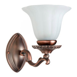 Lilac Single Bath Light - The elegant and shapely design of this light fixture will instantly enhance your bathroom decor. Pair them on either side of a mirror for a distinct look.