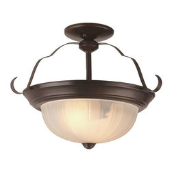 Trans Globe Lighting - Trans Globe Lighting 13215 ROB Semi Flushmount In Rubbed Oil Bronze - Part Number: 13215 ROB