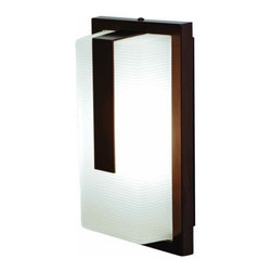 Access Lighting - Neptune Wet Location Wall Fixture - Contemporary rectangle shaped wall fixture in bronze or satin finish