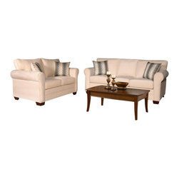 Chelsea Home Furniture - Chelsea Home Vicki 2-Piece Living Room Set in Sagittarius Pearl-Wow Spa Pillows - Vicki 2-Piece living room set in Sagittarius Pearl - Wow Spa Pillows belongs to the Chelsea Home Furniture collection