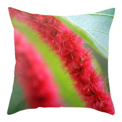 "BACK to BASICS - Tropical Flower II Abstract Pillow Cover, 16x16 - Throw Pillow Cover made from 100% spun polyester poplin fabric, a stylish statement that will liven up any room. Individually cut and sewn by hand, the pillow cover measures 16"" x 16"", 18"" x 18"" or 20"" x 20"" depending on the size you choose, features a double-sided print and is finished with a concealed zipper for ease of care."