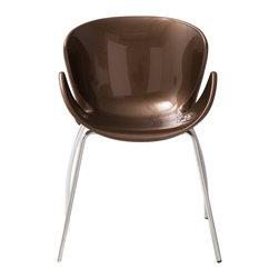 Eurostyle - Bloom Armchair (Set of 4); Bronze/Chrome -