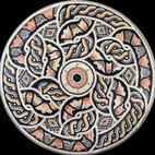 Custom Designed Handcut Ancient Style Marble Mosaic Medallions - Custom Designed and handcrafted Marble Mosaics Medallion Tiles