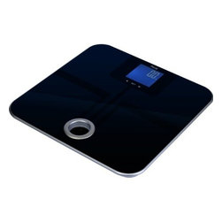 AMERICAN WEIGH SCALES INC. - Body Weight, Fat, Water, Muscle, - Stay Fit andLive BetterThe MSL-180 body fat scale features a modern tempered glass platform with seamlessly integrated body fat sensors. The reverse backlit LCD displays not only body weight, but also body fat, bone mass, muscle, and body water. The additional data is calculated using BIA technology. A convenient carry handle allows you to easily carry the scale with you or store it on a wall hanger.Special Note on BIA:Bioimpedance Analysis (BIA) uses a low, safe electrical current. Those with pacemakers or other electrical implants should not use this scale as the BIA feature could possibly cause them to malfunction.